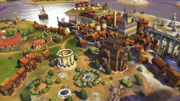 A city in Civilization 6