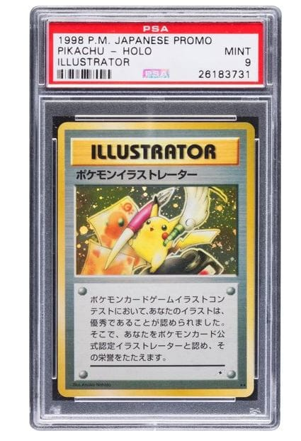 The most expensive Pokemon card ever.