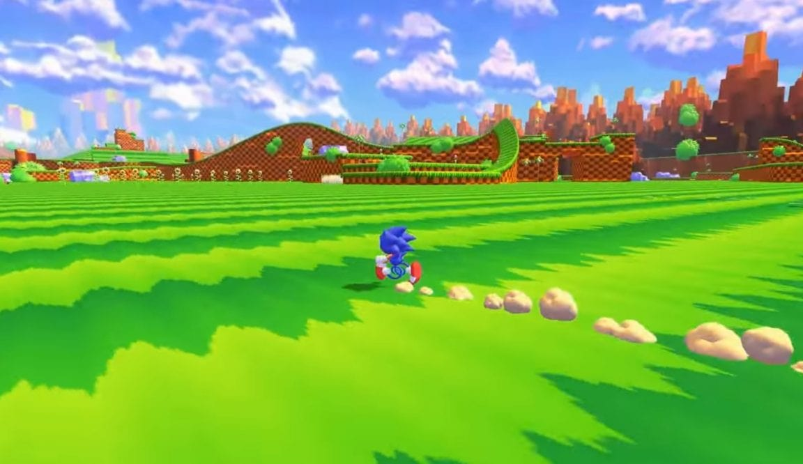Sonic The Hedgehog running in a fan made game.