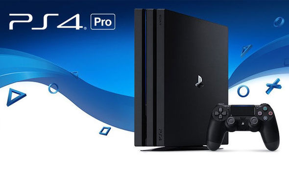 The PlayStation 4 Pro console.