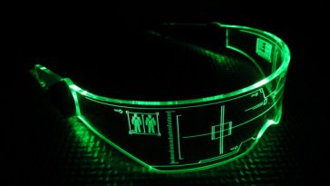 A visor made by a Mass Effect fan.