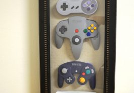 Nintendo controllers in a present - a great Christmas gift idea.