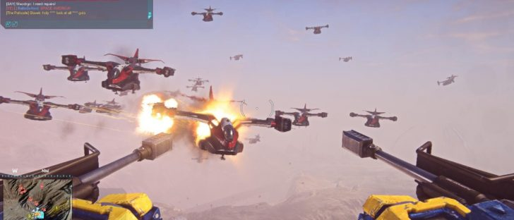 Planetside 2, shooting planes out of the sky.