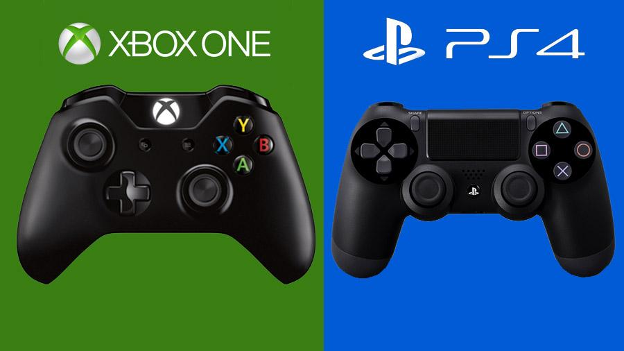 An Xbox One and PS4 controller