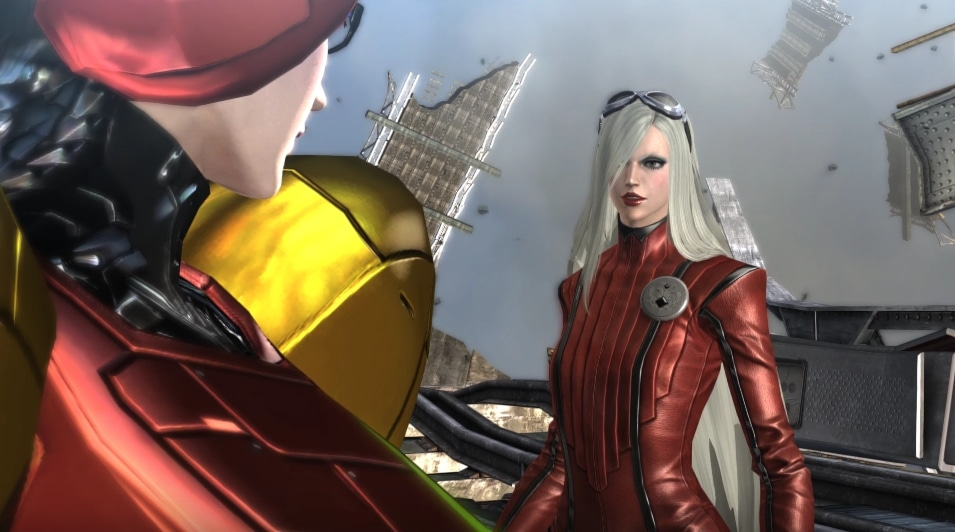 Bayonetta in 4k, showing two characters.