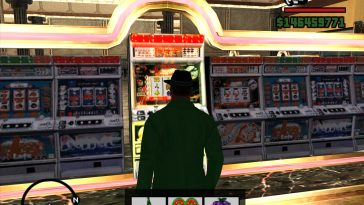 CJ in a casino in GTA San Andreas