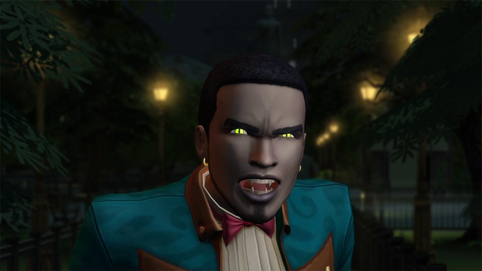 A vampire in the Sims
