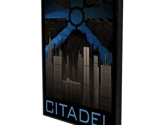 A Mass Effect poster of the citadel