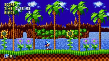 Sonic The Hedgehog waiting impatiently.