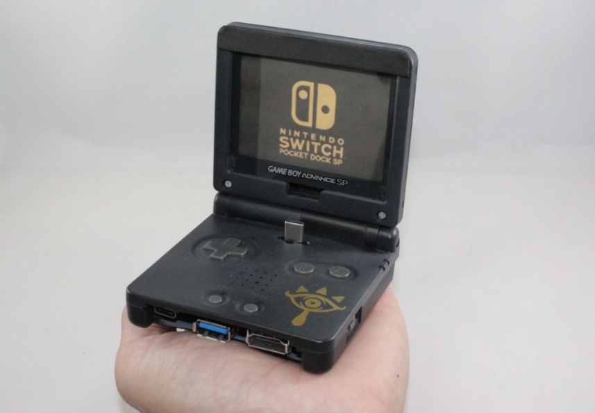 Gameboy Advance games console turned into a Nintendo Switch Dock
