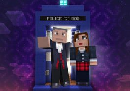 Doctor Who characters in Minecraft.
