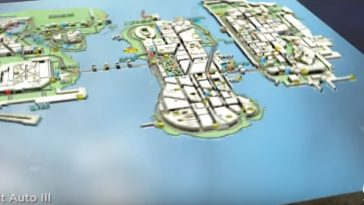 A look at GTA 3's map, which is 9km2.