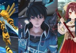 Three classic JRPG characters in an anime style.