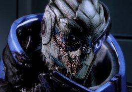 Garrus, an alien from Mass Effect