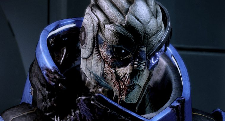 Garrus, an alien from Mass Effect