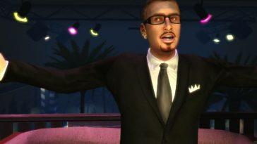 GTA's Gay Tony wearing a black suit.