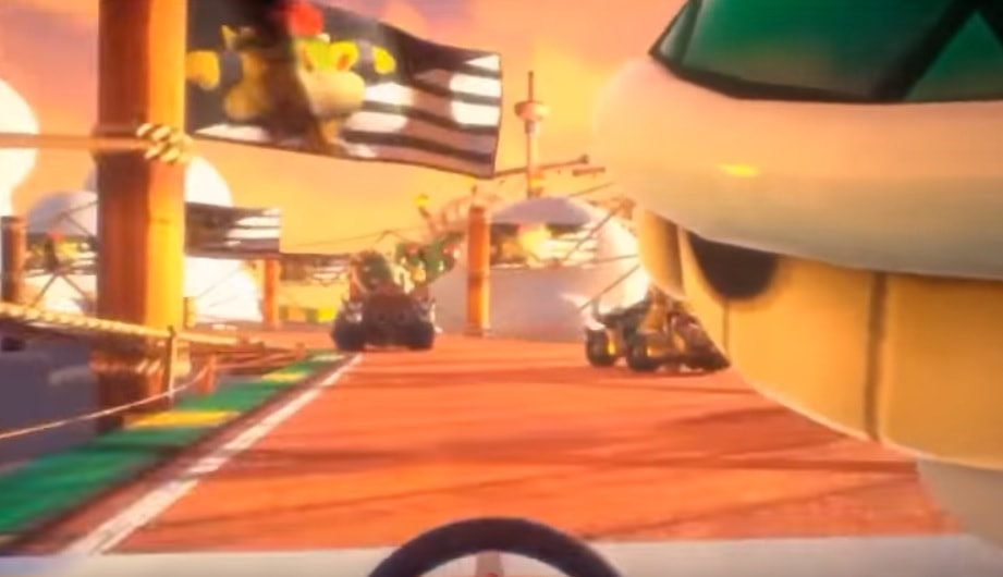 Mario Kart VR from a first person perspective