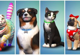 Cats and dogs from Sims 4 Pets