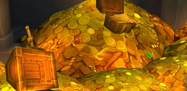 A stack of gold coins from a video game