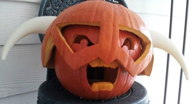 A gaming halloween pumpkin