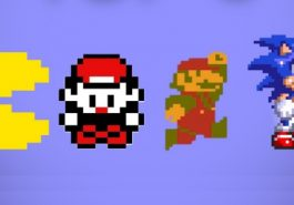Pacman, Ash from Pokemon, Mario and Sonic the Hedgehog