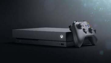 Xbox One X console and controller.