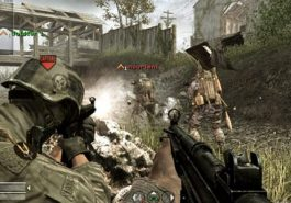 COD Call of Duty 4 battle with a soldier.