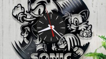 A sonic clock made as a gift or present for Christmas.