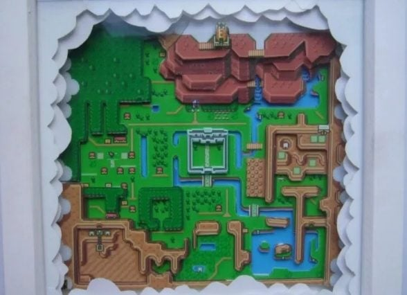 A Zelda map for a gift or present idea.