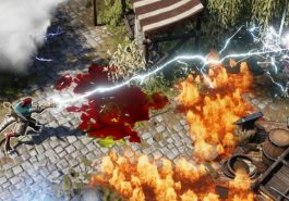 Divinity Original Sin 2 showing a character shooting lighting over fire.