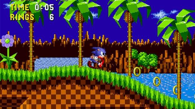 Sonic running forward.