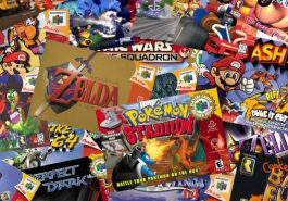 N64 video game boxes.