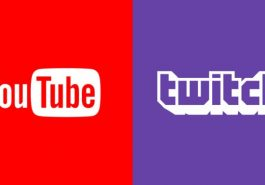 The YouTube and Twitch logos.