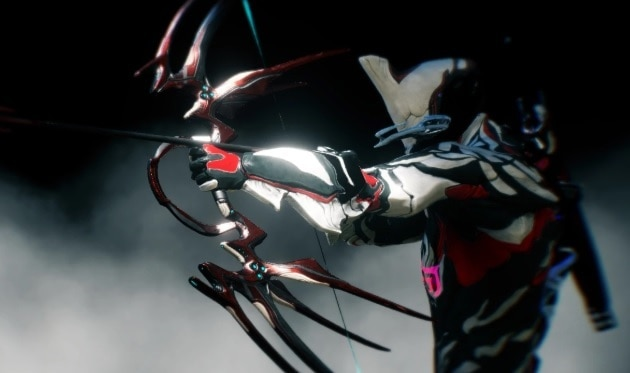 Warframe Cernos bow being drawn back