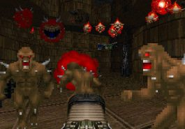 Doom video game from 1996, shooting bad guys, remembering the game as an adult gamer