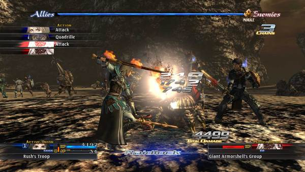 A scene from The Last Remnant showing a battle taking place.