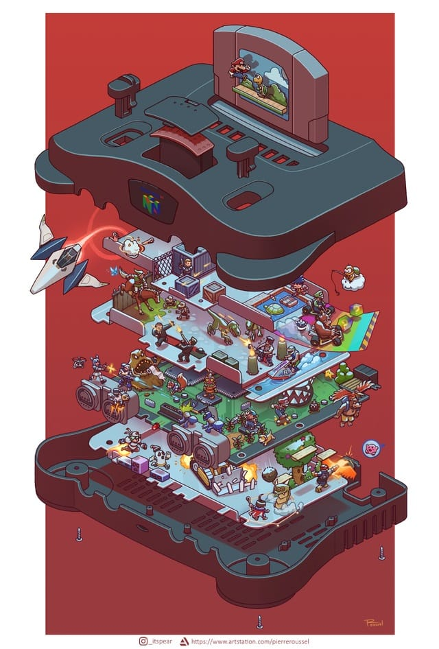 You Have to See These 'Exploded' Retro Console Designs