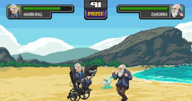 Beat Up Darwin As Einstein in Science Kombat