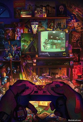 This Retro Gamer Bedroom Art Will Make You Nostalgic