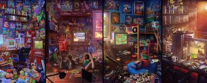 This Retro Gamer Bedroom Art Will Make You Nostalgic